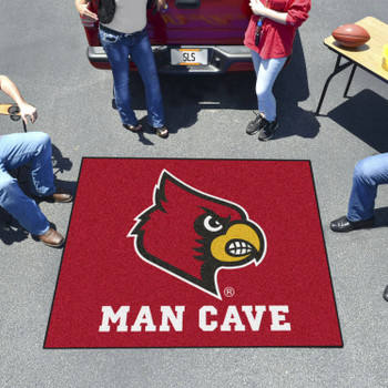 """59.5"""" x 71"""" University of Louisville Man Cave Tailgater Red Rectangle Mat"""