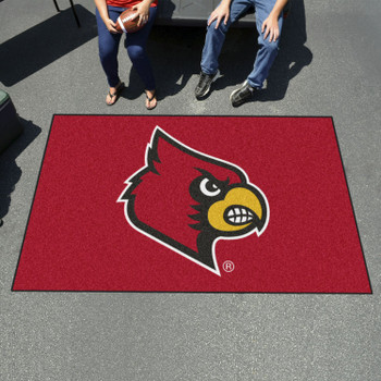 "59.5"" x 94.5"" University of Louisville Red Rectangle Ulti Mat"
