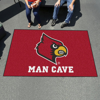 "59.5"" x 94.5"" University of Louisville Man Cave Red Rectangle Ulti Mat"