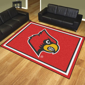 8' x 10' University of Louisville Red Rectangle Rug