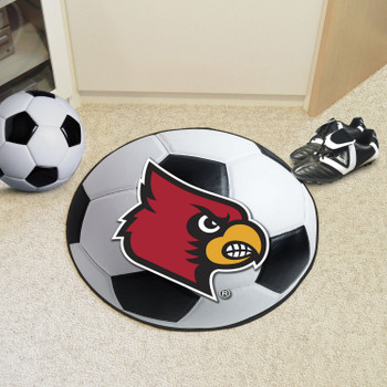 "27"" University of Louisville Soccer Ball Round Mat"