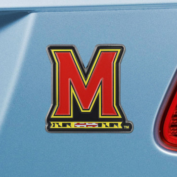 University of Maryland Red Color Emblem, Set of 2