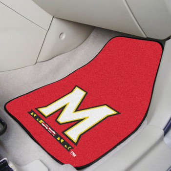 University of Maryland Red Carpet Car Mat, Set of 2