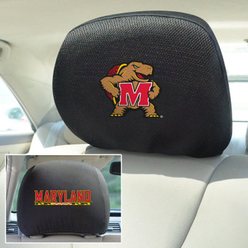 University of Maryland Car Headrest Cover, Set of 2