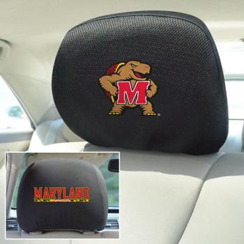 University of Maryland Car Headrest Cover, Set of 2