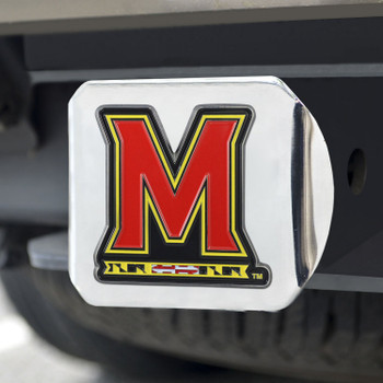 University of Maryland Color Hitch Cover - Chrome