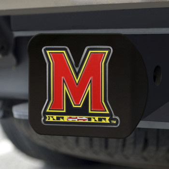 University of Maryland Hitch Cover - Color on Black