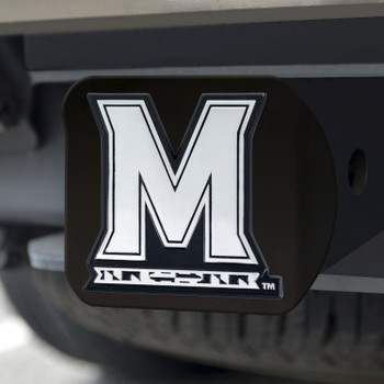 University of Maryland Hitch Cover - Chrome on Black