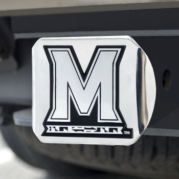 University of Maryland Hitch Cover - Chrome on Chrome