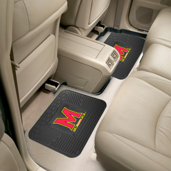 University of Maryland Heavy Duty Vinyl Car Utility Mats, Set of 2