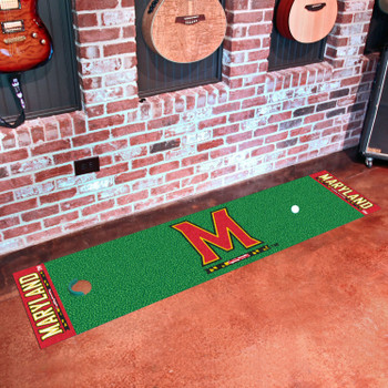 "18"" x 72"" University of Maryland Putting Green Runner Mat"