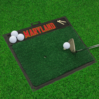 "20"" x 17"" University of Maryland Golf Hitting Mat"