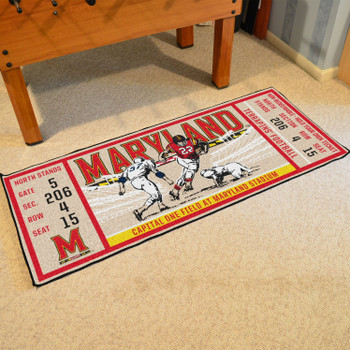 "30"" x 72"" University of Maryland Ticket Rectangle Runner Mat"