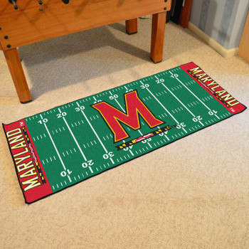 "30"" x 72"" University of Maryland Football Field Rectangle Runner Mat"