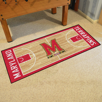 "30"" x 72"" University of Maryland NCAA Basketball Rectangle Runner Mat"
