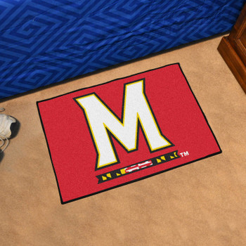 "19"" x 30"" University of Maryland Red Rectangle Starter Mat"
