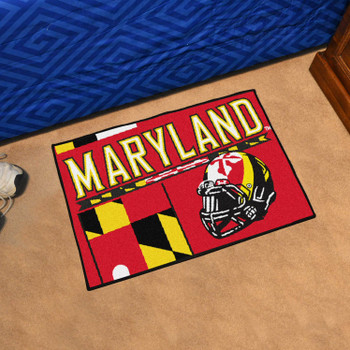 "19"" x 30"" University of Maryland Uniform Red Rectangle Starter Mat"