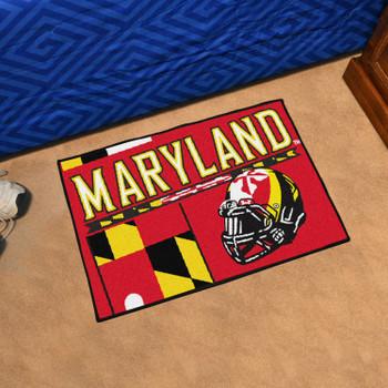 "19"" x 30"" University of Maryland Uniform Red Rectangle Starter Mat"