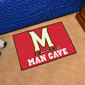 "19"" x 30"" University of Maryland Man Cave Starter Red Rectangle Mat"