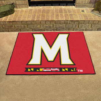 "33.75"" x 42.5"" University of Maryland All Star Red Rectangle Mat"