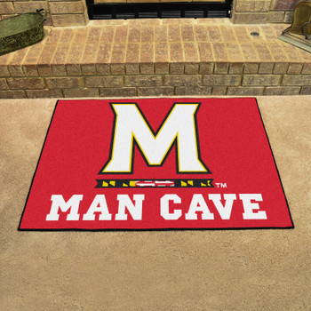 "33.75"" x 42.5"" University of Maryland Man Cave All-Star Red Rectangle Mat"