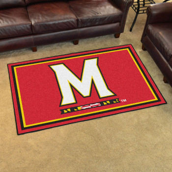 4' x 6' University of Maryland Red Rectangle Rug