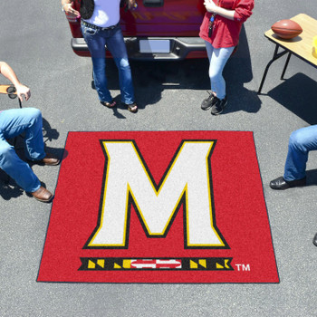 "59.5"" x 71"" University of Maryland Red Tailgater Mat"