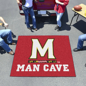 "59.5"" x 71"" University of Maryland Man Cave Tailgater Red Rectangle Mat"