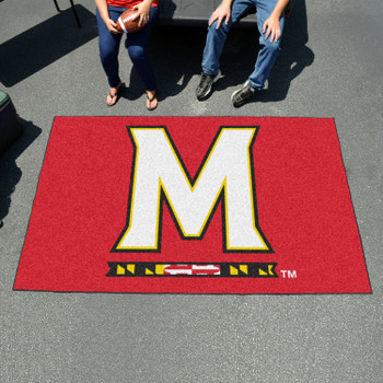 "59.5"" x 94.5"" University of Maryland Red Rectangle Ulti Mat"