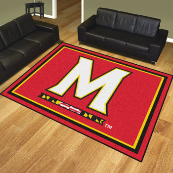 8' x 10' University of Maryland Red Rectangle Rug