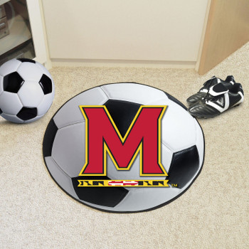 "27"" University of Maryland Soccer Ball Round Mat"