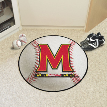 "27"" University of Maryland Baseball Style Round Mat"