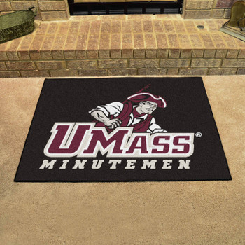 "33.75"" x 42.5"" University of Massachusetts All Star Black Rectangle Mat"
