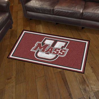 3' x 5' University of Massachusetts Maroon Rectangle Rug