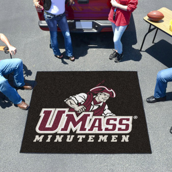 "59.5"" x 71"" University of Massachusetts Black Tailgater Mat"