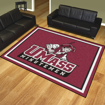 8' x 10' University of Massachusetts Maroon Rectangle Rug