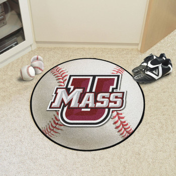 "27"" University of Massachusetts Baseball Style Round Mat"