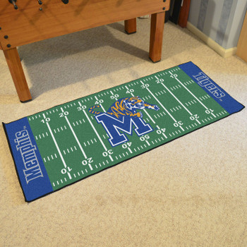 "30"" x 72"" University of Memphis Football Field Rectangle Runner Mat"