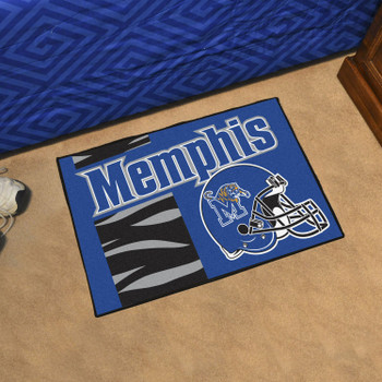 "19"" x 30"" University of Memphis Uniform Blue Rectangle Starter Mat"