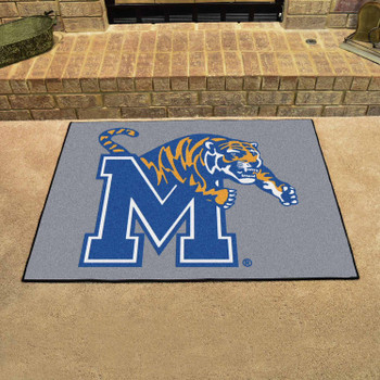 "33.75"" x 42.5"" University of Memphis All Star Gray Rectangle Mat"