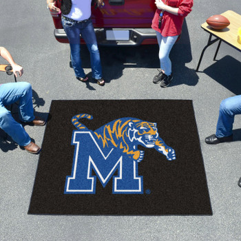 "59.5"" x 71"" University of Memphis Black Tailgater Mat"