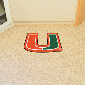 "University of Miami Mascot Mat - ""U"" Logo"
