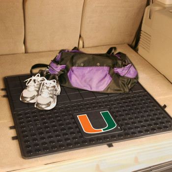 "31"" University of Miami Heavy Duty Vinyl Cargo Trunk Mat"