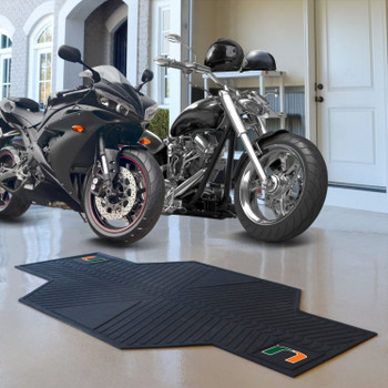 "82.5"" x 42"" University of Miami Motorcycle Mat"