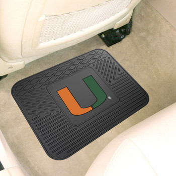 "14"" x 17"" University of Miami Car Utility Mat"