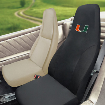 "University of Miami Car Seat Cover - ""U"" Logo"