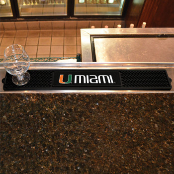 University of Miami Vinyl Drink Mat