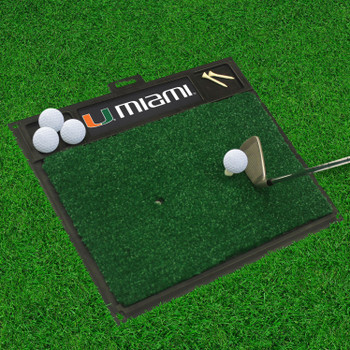 "20"" x 17"" University of Miami Golf Hitting Mat"