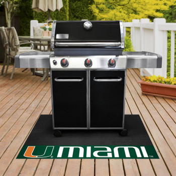"26"" x 42"" University of Miami Grill Mat"
