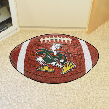 "20.5"" x 32.5"" University of Miami Football Shape Mat"